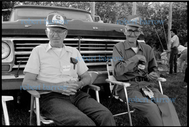 Fred and Julius Helgason at the Crestview School Reunion, Swan River MB 1991