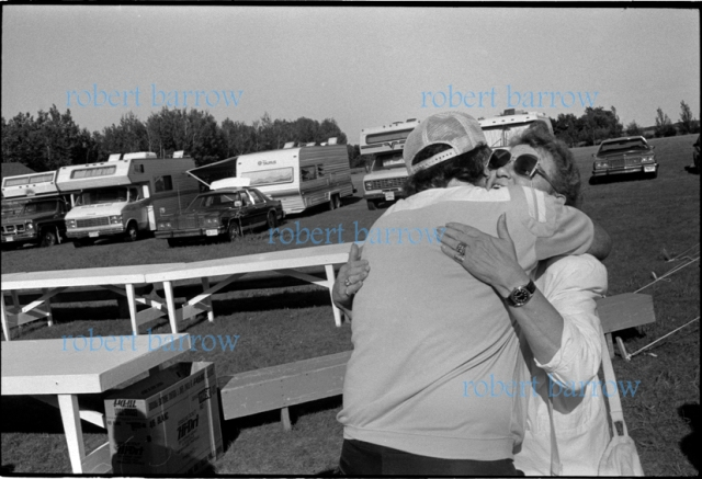 Unidentified at Crestview School Reunion, Big Woody Hall, Swan River MB 1991